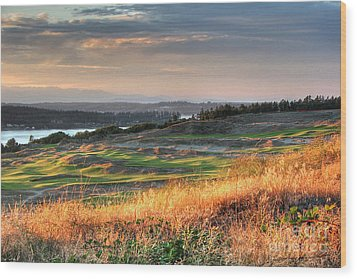 Scottish Style Links In September - Chambers Bay Golf Course Wood Print