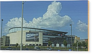 Scottrade Center Home Of The St Louis Blues Wood Print