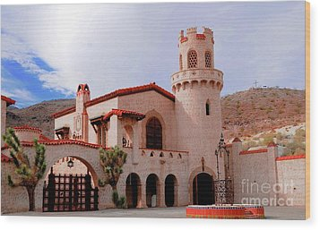 Scotty's Castle Wood Print by Kathleen Struckle