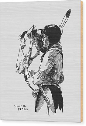 Scout Wood Print by Duane R Probus