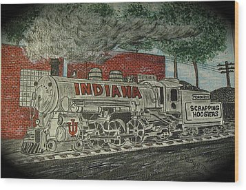 Scrapping Hoosiers Indiana Monon Train Wood Print