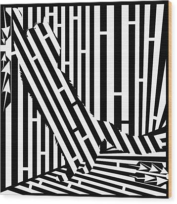 Scratching Cat Maze Wood Print by Yonatan Frimer Maze Artist