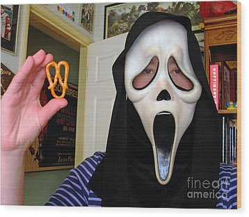 Scream And The Scream Pretzel Wood Print