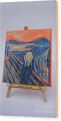 Wood Print featuring the painting Scream by Diana Bursztein