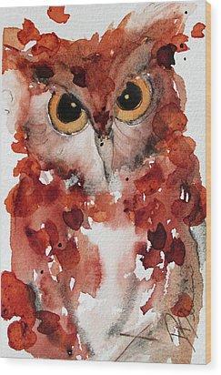 Screech Wood Print by Dawn Derman
