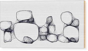 Scribrocks Wood Print by Mark Blauhoefer