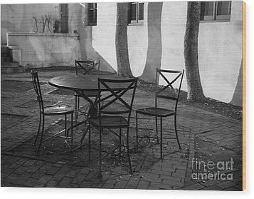 Scripps College Courtyard Wood Print by University Icons