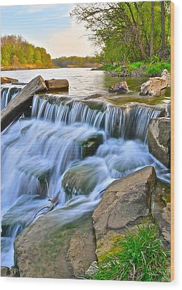 Sculpted Falls Wood Print by Frozen in Time Fine Art Photography