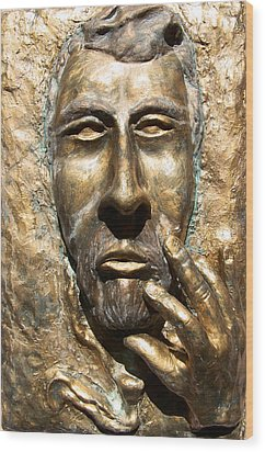 Sculpting  Van Gogh Wood Print by Azul Fam