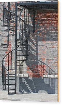 Sculptural Architecture 3 Wood Print by Mary Bedy