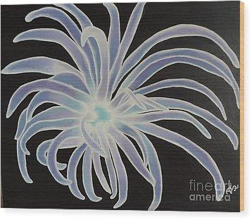 Sea Anemone Wood Print by Dianna Lewis