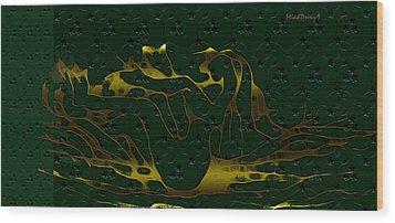 Sea Bath Wood Print by Asok Mukhopadhyay