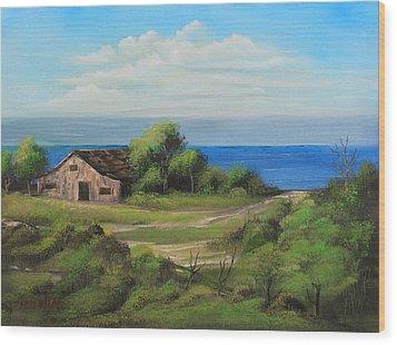 Sea Breeze Wood Print by Remegio Onia