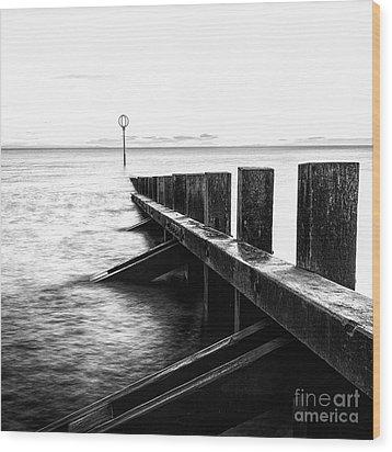 Sea Defences Portobello Wood Print by John Farnan