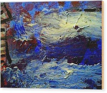 Sea Desaster Wood Print by Mirko Gallery