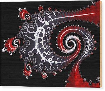Sea Dragon Wood Print by Susan Maxwell Schmidt