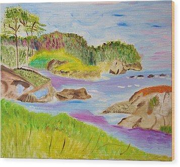 Sea Escape Wood Print by Meryl Goudey