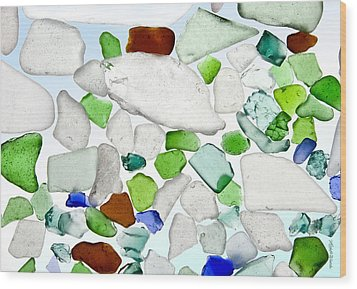 Sea Glass Wood Print by Michelle Wiarda