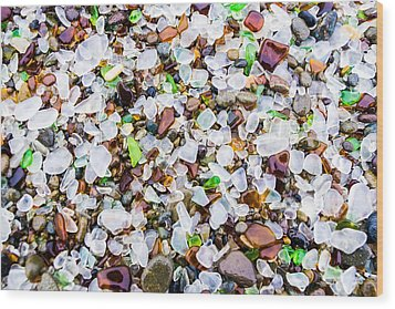 Sea Glass Treasures At Glass Beach Wood Print