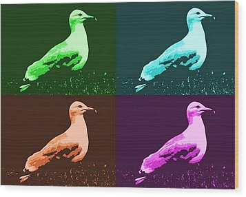 Wood Print featuring the photograph Sea Gulls 4  by Al Fritz