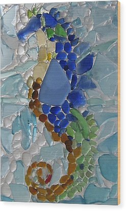 Sea Horse 1 Wood Print by Anne Marie Brown