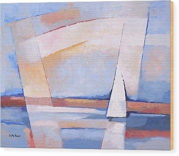 Sea Light Wood Print by Lutz Baar