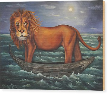 Sea Lion Softer Image Wood Print by Leah Saulnier The Painting Maniac