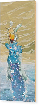 Sea Man Wood Print