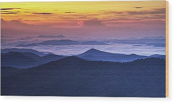 Sea Of Clouds At Sunrise Wood Print by Andrew Soundarajan