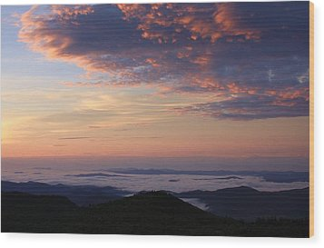 Sea Of Clouds Blue Ridge Mountains Wood Print by Mountains to the Sea Photo