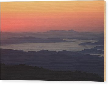 Sea Of Clouds-blue Ridge Mountains Nc Wood Print by Mountains to the Sea Photo