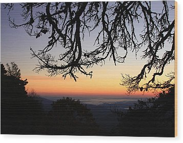 Sea Of Clouds On The Blue Ridge Wood Print by Mountains to the Sea Photo