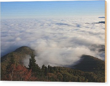 Sea Of Clouds On The Blue Ridge Parkway Wood Print by Mountains to the Sea Photo