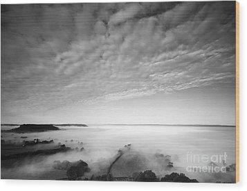 Sea Of Fog Wood Print by Anne Gilbert
