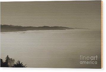 Sea Of Fog Wood Print