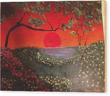 Wood Print featuring the painting Sea Of Japan by Michael Rucker