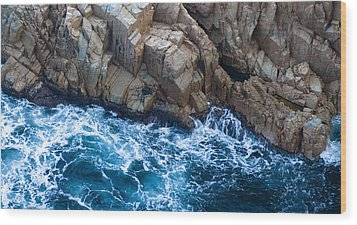 Sea Rocks Wood Print by Frank Tschakert