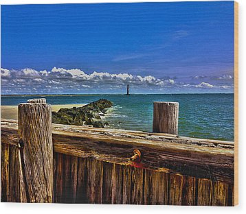 Sea Scape Wood Print by Will Burlingham