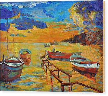 Sea Scenery Wood Print by Ivailo Nikolov