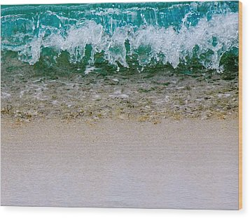 Sea Shore Colors Wood Print