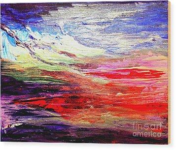 Sea Sky I Wood Print