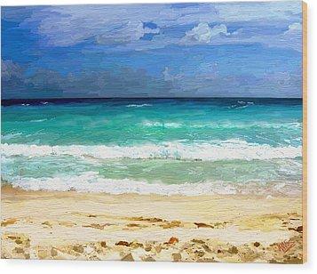 Sea Sky Sand Wood Print