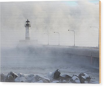 Sea Smoke Wood Print by Gregory Israelson