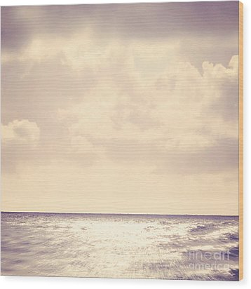 Sea Sparkle Wood Print