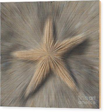 Sea Star Explosion Wood Print