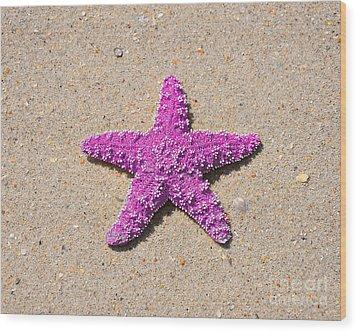 Sea Star - Pink Wood Print by Al Powell Photography USA