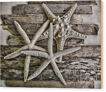 Sea Stars Wood Print by Colleen Kammerer