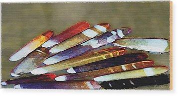 Wood Print featuring the digital art Sea Stings by David Klaboe