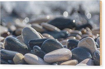 Sea Stones  Wood Print by Stelios Kleanthous