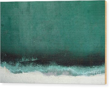 Sea Storm Wood Print by Robert Riordan